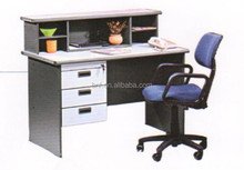 small size grey color writing desk / reception desk