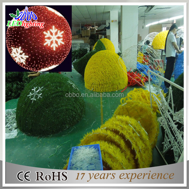 Outdoor multi color hanging LED lighted christmas ball rattan ball colorful