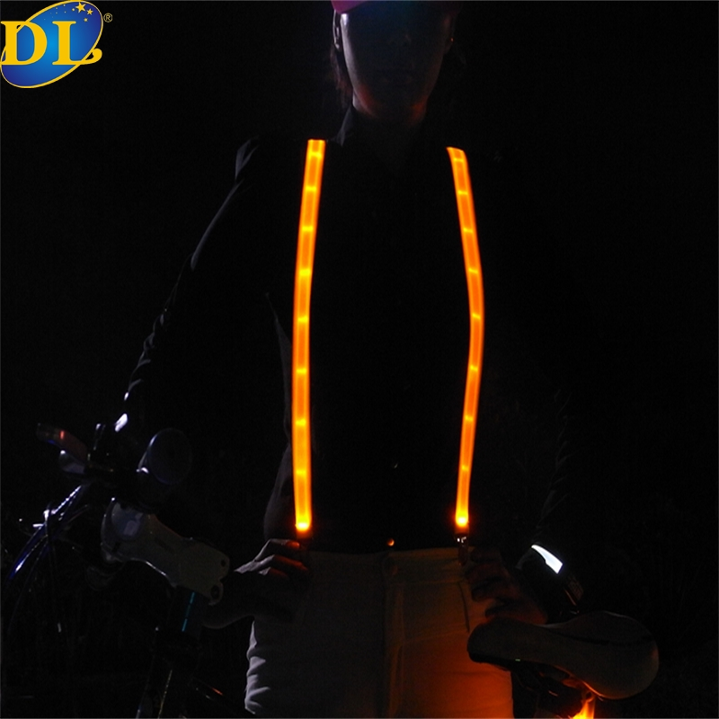 Safety Vest Backpack/Policeman LED Accessory For Outdoor Sports Safety