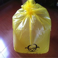 Plastic disposable medical waste biohazard bag, garbage bag