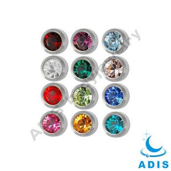 hand polishing stainless steel rhinestone ball body jewelry