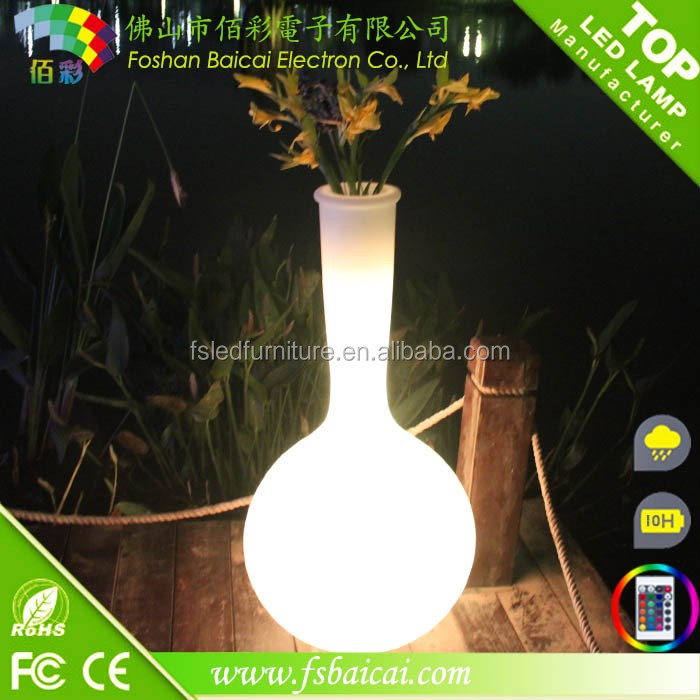 Outdoor garden decorative LED waterproof flower POTS/RGB color changing planting flower pot