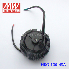 Meanwell Round Shape LED Driver HBG-100-48A For LED High Bay Lightting