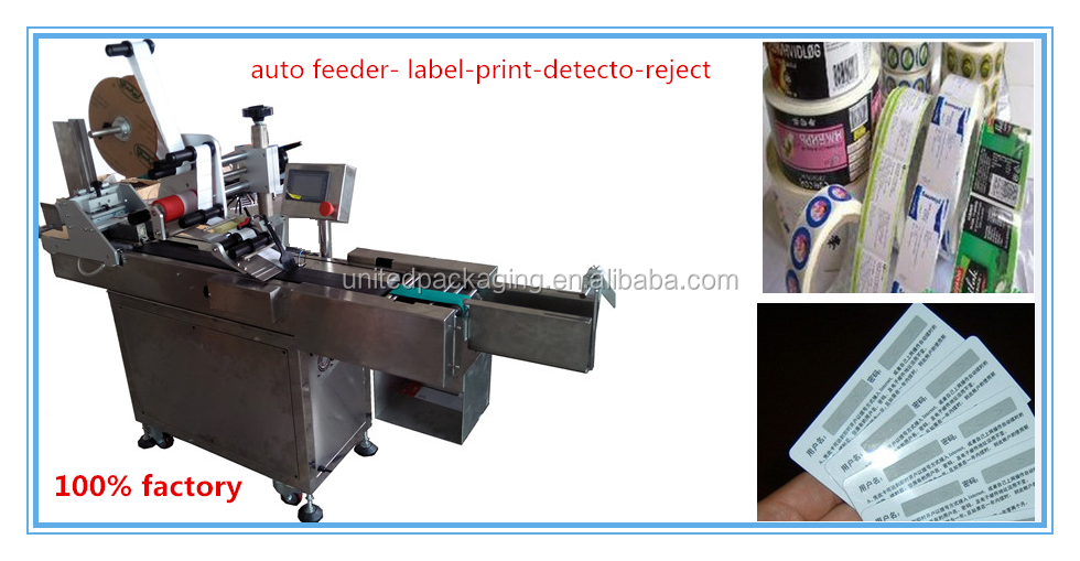 Full Automatic Top Adhesive Sticker Labeling Machine for Plastic Empty Envelope Bag Labeling