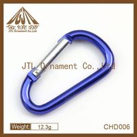 fashion light aluminum carabiner clip