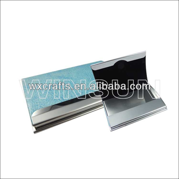 pu leather name card holder , stainless steel name card holder