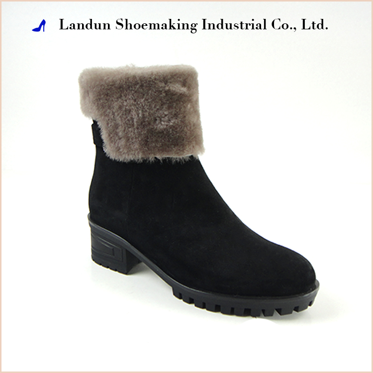 2017 women casual elegant warm leather snow boots