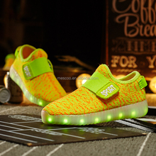 New Autumn Breathable Kids LED light Sneakers Brand Children Rubber Flashing Baby Boys Sports Shoes for girl size 21~30