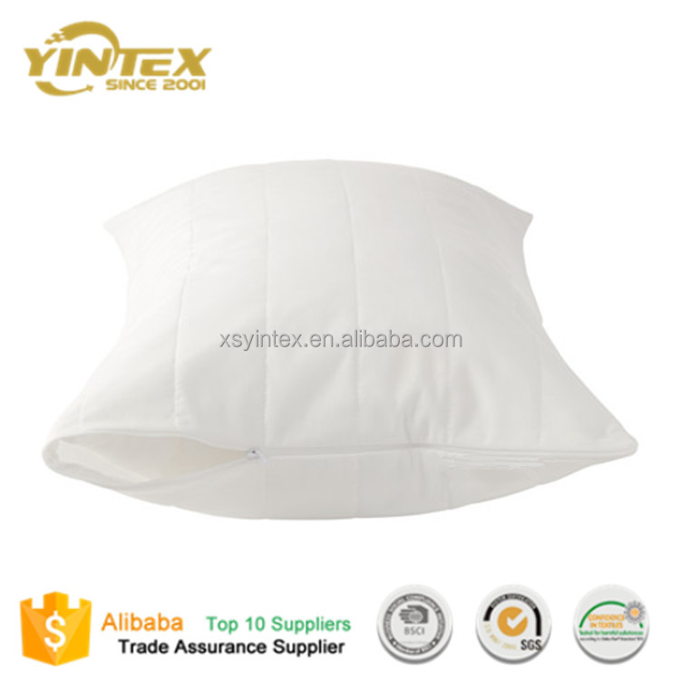 Wholesale China Supplier White Soft Cotton TPU Waterproof Pillow Cases