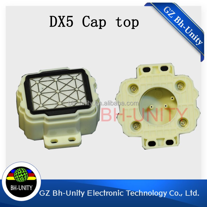 Hot sale!eco solvent printer parts wit color ultra 9000 9100 9200 capping station cap top capping top for dx5 printhead