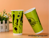 20oz paper cups with double PE coated for cold drinking juice and others beverage
