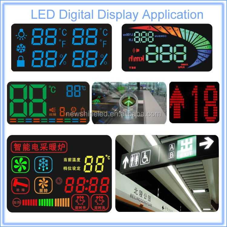 High Bright 2 two digital Single color small 7 segment led display 0.40 inch led digital display for best led adverting signs