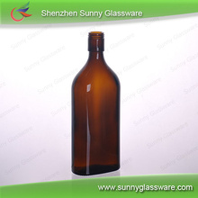 2015 new product amber whisky glass bottle