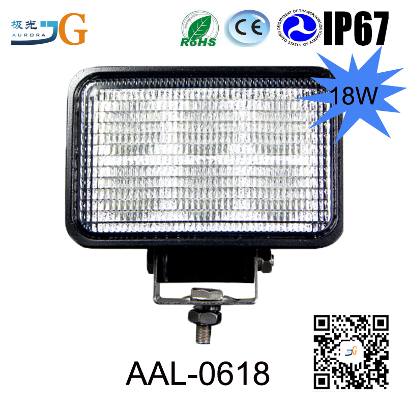 4.8 Inch 18W Led Work Light 1350Lm Flood Beam 4X4 Offroad Lamp Spot Light For Car