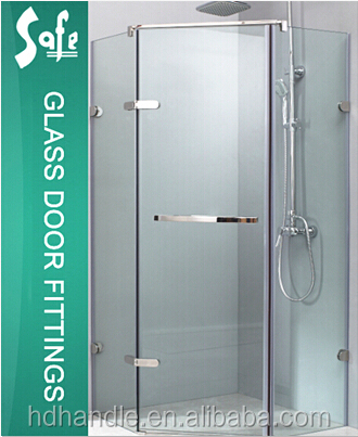 304Stainless steel curved glass shower enclosure for 8-10mm tempered glass