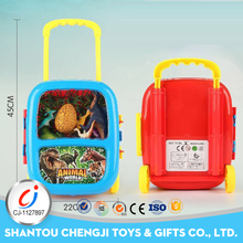Hot sales animal toys plastic funny baby suitcase