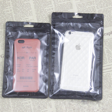 Transparent bag general cell phone case packaging zipper bag of compound material poly plastic bag