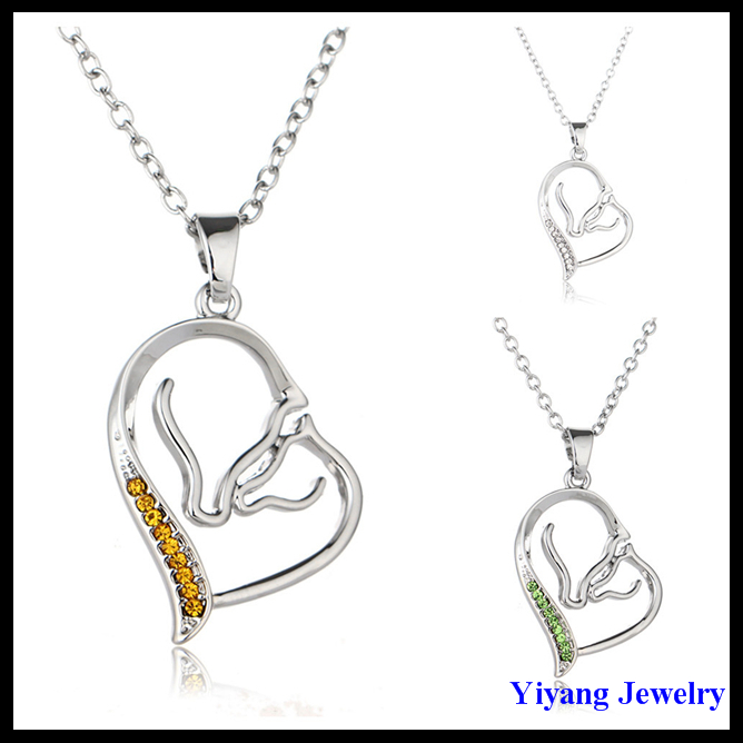 Greek Jewelry Heart Necklace Fashion Design Best Selling