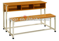 new design melamine desk,three seat desk and chair ,modern study room furniture