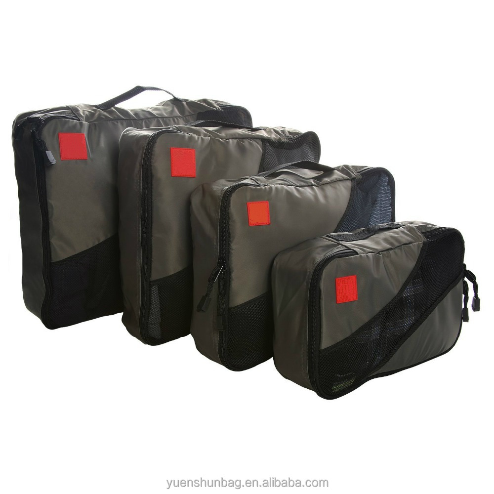 Packing Cubes Travel Bags. Luggage Organizer Accessories. 4 Piece Value Set.