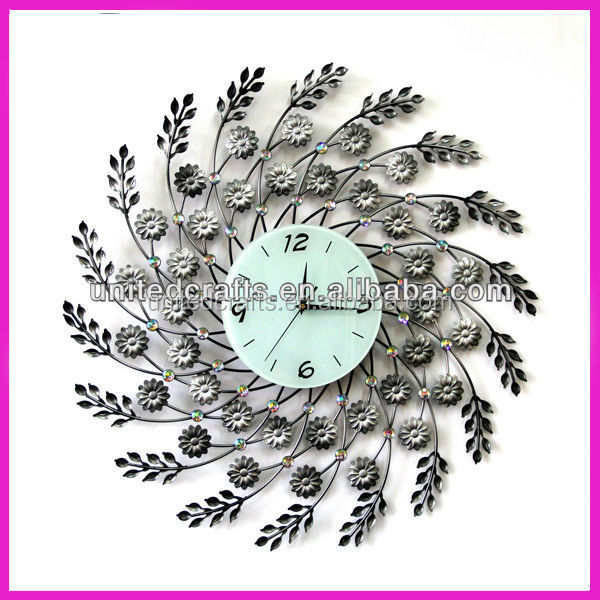 Low MOQ Promotional antique azan metal wall clock with best price