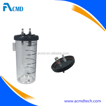 Hospital Medical Use CE Marked Polycarbonate Material Suction Canister