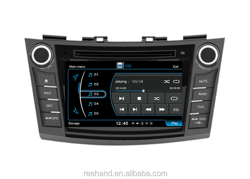 "7"" Windows system Touch Screen Car Audio For SUZUKI Swift With GPS Navigation A8 Chipset Dual Core 3G Wifi BT Radio"