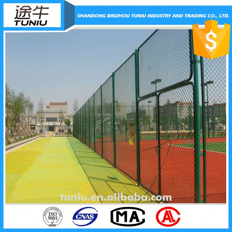 green plastic chain link fence for baseball ground