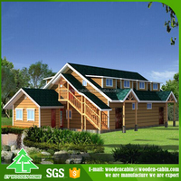 Best selling product in europe wooden prefab house/log house for Promotion