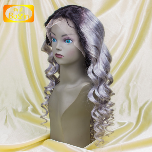 "bolin hair Super cheap lace wigs 8""-30"" human hair front lace wig natural hairline"