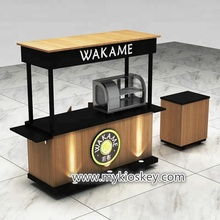 Mobile outdoor snack food coffee push cart coffee kiosk