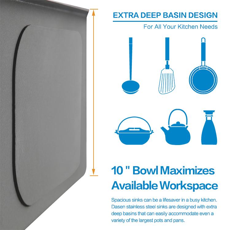 stainless undermount sink