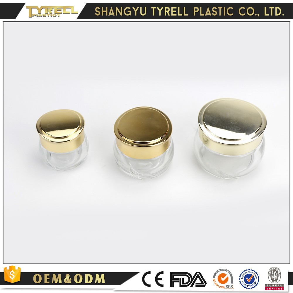 Hangzhou Big Face Cream Glass Cosmetic Container Bottle Jars