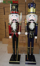 2015 New 6ft Wooden Nutcracker soldier ,Giant Wooden Nutcracker