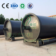 The Latest technology 15 TPD pollution-free auto discharging style waste plastic / rubber pyrolysis machinery