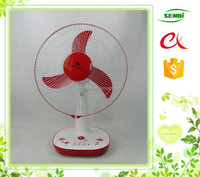 high rpm 12v solar dc fan motor 16'' table fan with timer