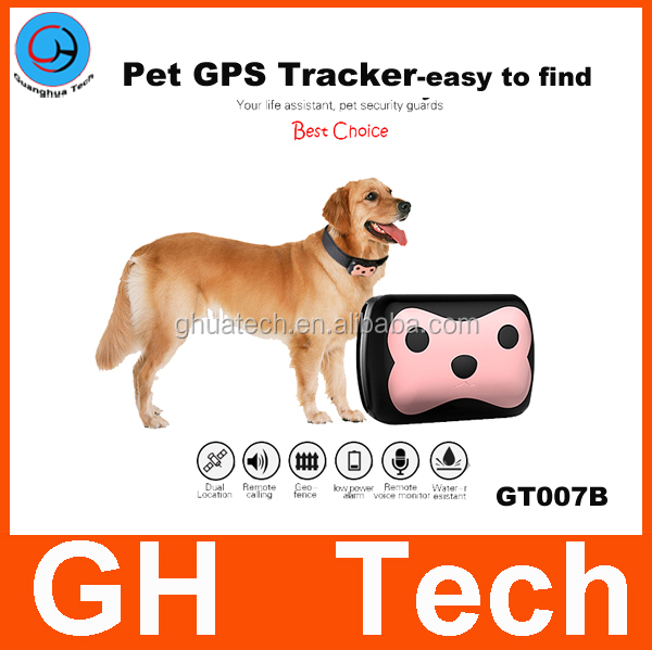 GH New gps tracker for Locating dogs/cat collar real time tracking on APP for Android and IOS