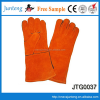 High quality promotional latex blue cotton gloves
