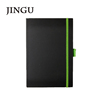 2015 new designed hardcover notebook with colored elastic band