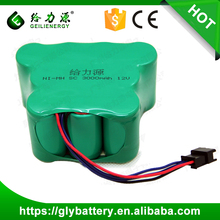 Rechargeable NI-MH SC 3000mAh 12V Battery Pack For Vacuum Cleaners