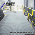 Heavy-duty galvanized steel grating, used in platform and corridor