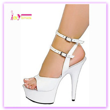 white girls latest fashion high platform heel buckle strap ankle sandals
