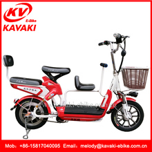 China 2017 New Products KAVAKI Three Seat Bike Electric Bicycle for Mom and Baby