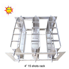 "Happiness high quality Fireworks 4"" 15 shots mortar tubes loading display rack"