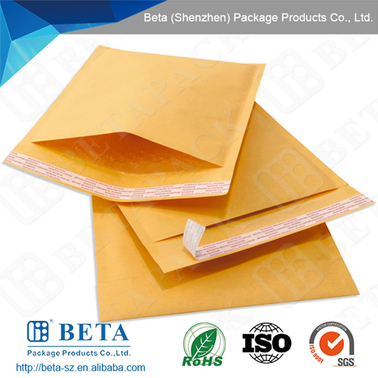 Self-seal Kraft Bubble Mailing Bag