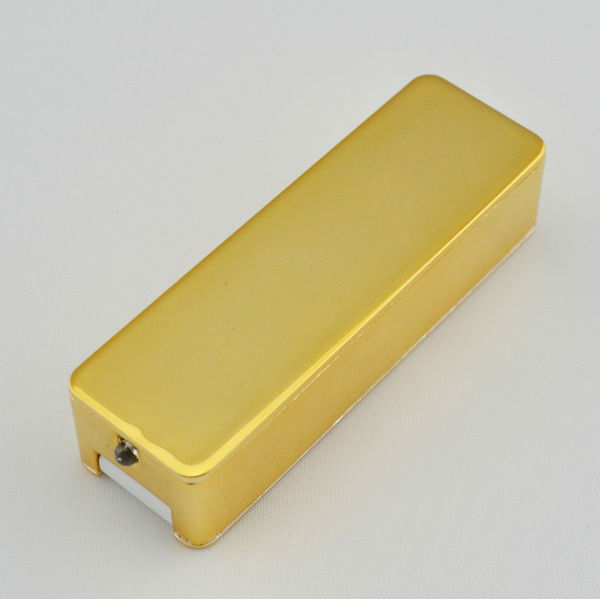 new gold metal rechargeable usb cs lighter