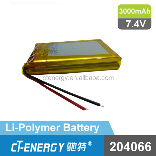 Superior Power Tools Batteries Li polymer Battery 7.4V 3000mAh CT204066