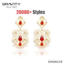 latest artificial gold filled jewellery big long chain kashmiri indian style cubic zirconia drop new designs gold jhumka earring