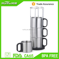 sport product france an health Stainless Steel Antique coffee Tea Cup Set
