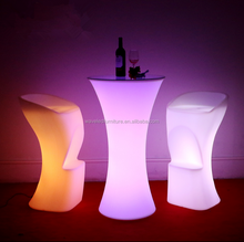 Hot selling design 16 colors changeing led acrylic bistro table